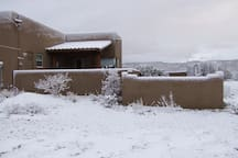 Occasionally winter brings snow to the Arizona Vacation Hideaway.
