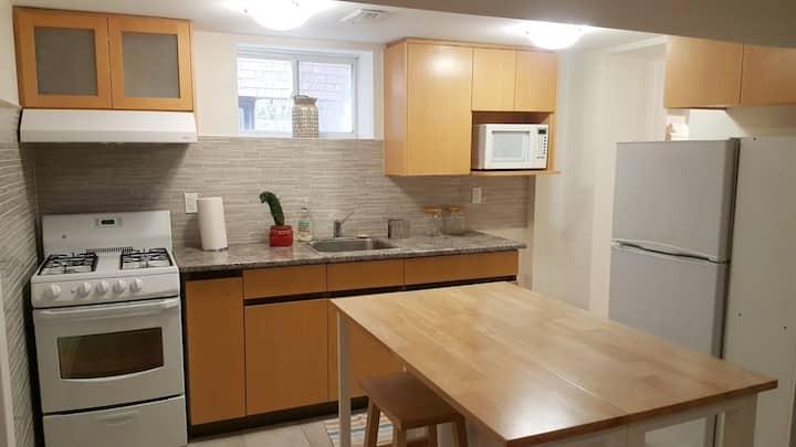 Cozy,  Renovated 1 Bedroom Private Unit