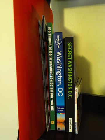 Guidebooks available for use during stay