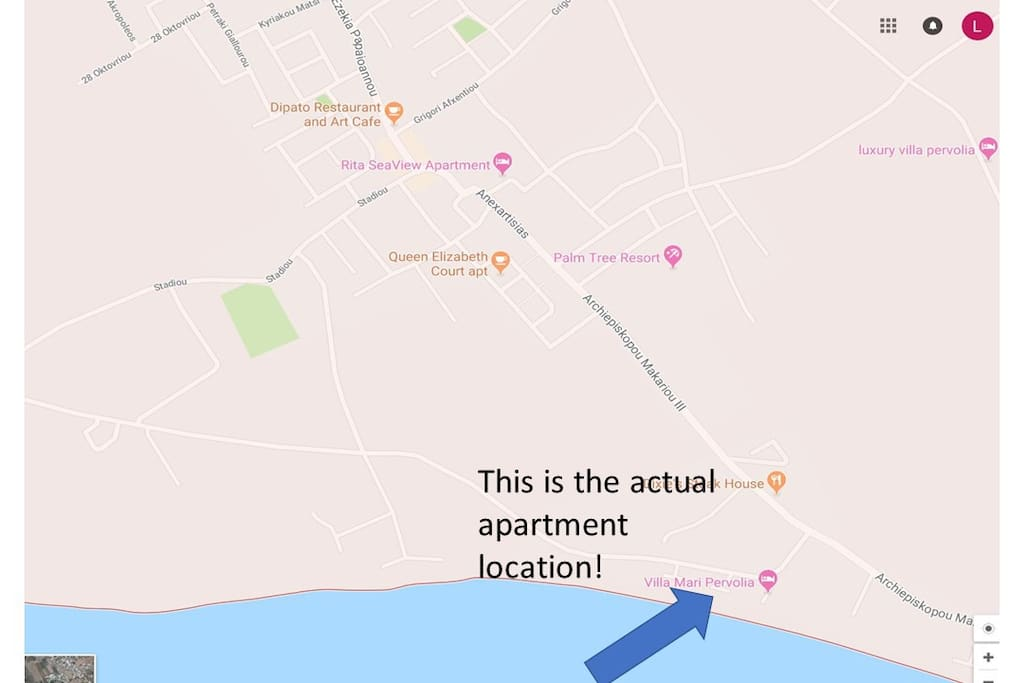 Actual apartment location!