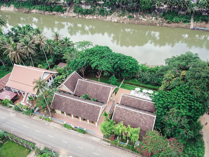 Apsara Villa on the river