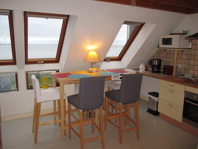 t2 bis vue mer accès directe plage - Sarzeau - Apto. en complejo residencial