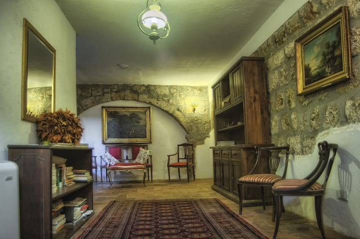 Main Entrance to Casa Tuscania at street level where there are  2 private apartments upstairs