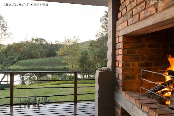 Overnight room with wildlife views and lions' roar