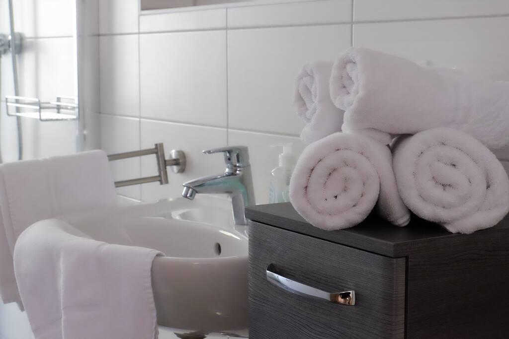 Handtücher und Wäscheservice