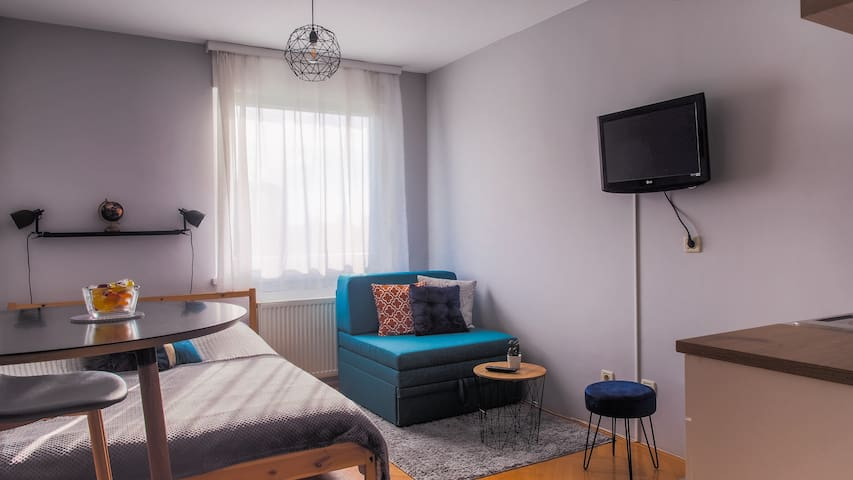 Modern studio apartment in the center of Zagreb