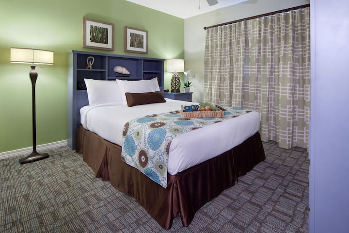 Get a peaceful night sleep in our cozy bedroom which has a King bed.