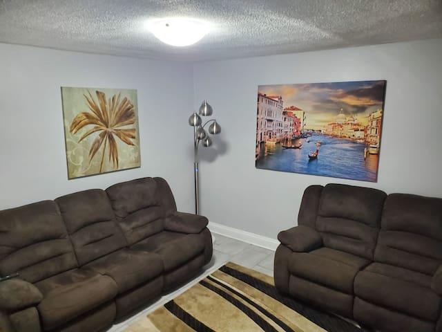 Tastefully renovated Erie street apartment.