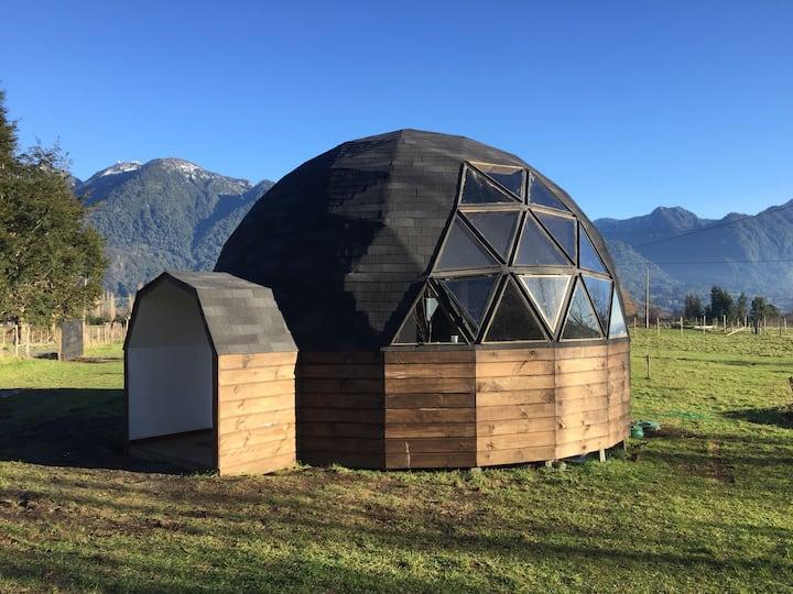Cabaña Casa Domo Loft en Lago Ranco