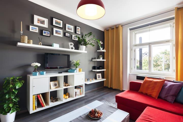 ❤️❤️MODERN FLAT 15 min CENTER ❤️ FREE PARKING❤️❤️ - Praga - Apartament