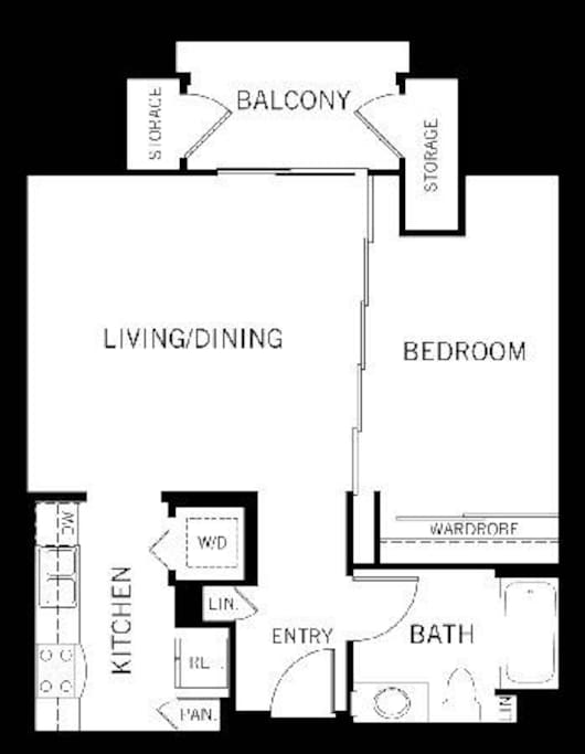 Floorplan / layout of the unit