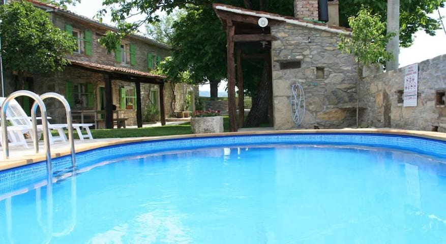 Traditional stone house with pool! - Buzet - Casa