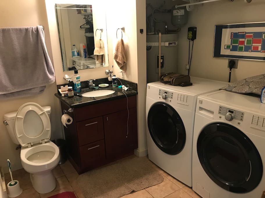 Washer and dryer amenities