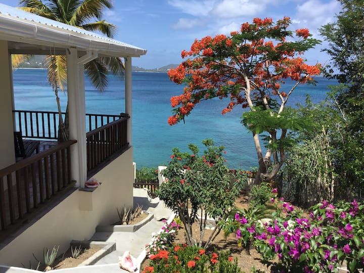 Quiet Beachfront Cottage, Carriacou; Awesome Views