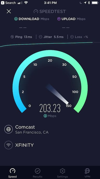 super fast wifi available per request