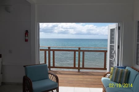 A beautiful renovated oceanfront beach house in Rincón, Puerto Rico. Located behind famous Picoteo and Kaplash bars and half a mile from Rincon Beach Resort & Horned Dorset Hotel. Perfect beach for paddleboarding, kayaking,fishing & watersports. Night/rate includes taxes.