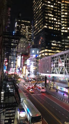 Entire apartment has 2 bedrooms/3 beds time square