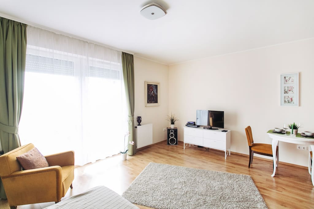 Peaceful, nice, bright, clean and well equipped apartment