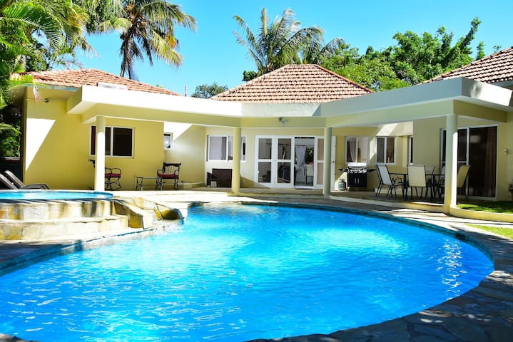 Guest friendly 2 Bdrs Villa in Laguna Playa,Sosua