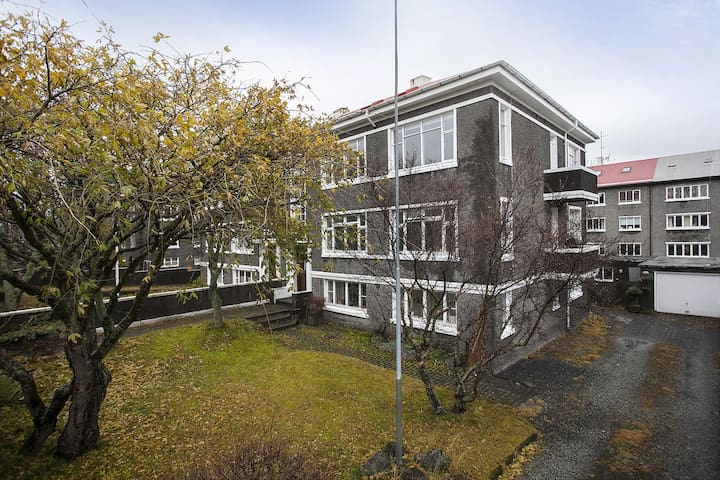 Our apartment - about 300 meters from Hallgrímskirkja, countless restaurants and café's and everything downtown Reykjavík has to offer.