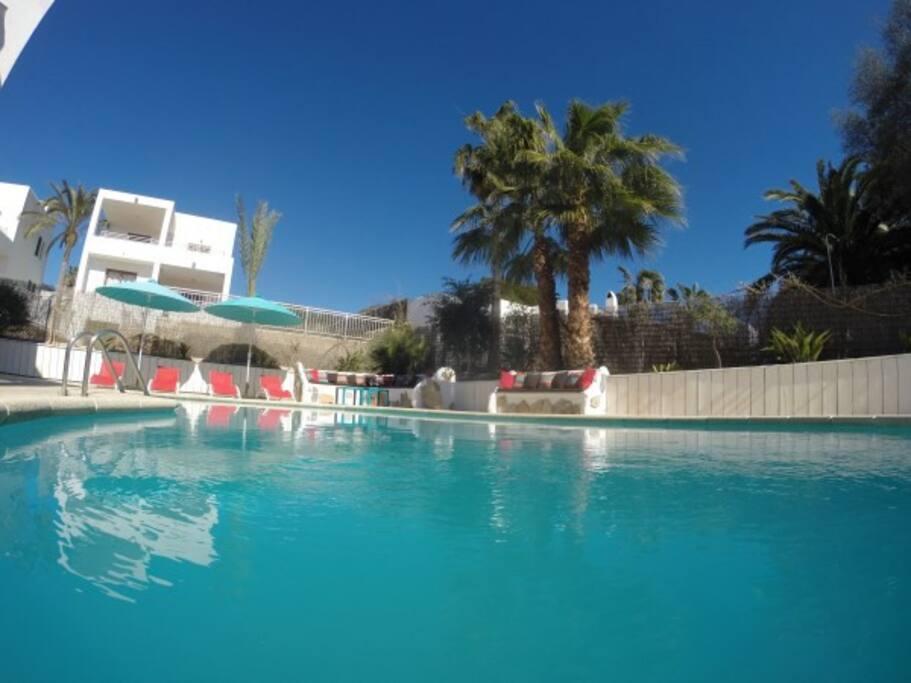 heerlijk verfrissend zwembad
