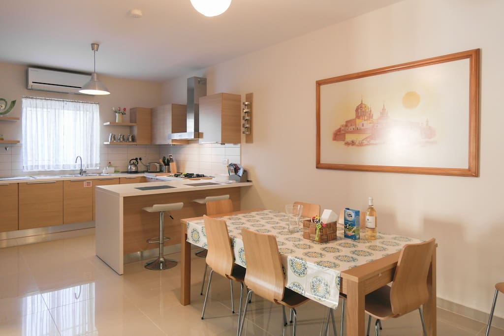 Our fully-equipped kitchen and dining area.