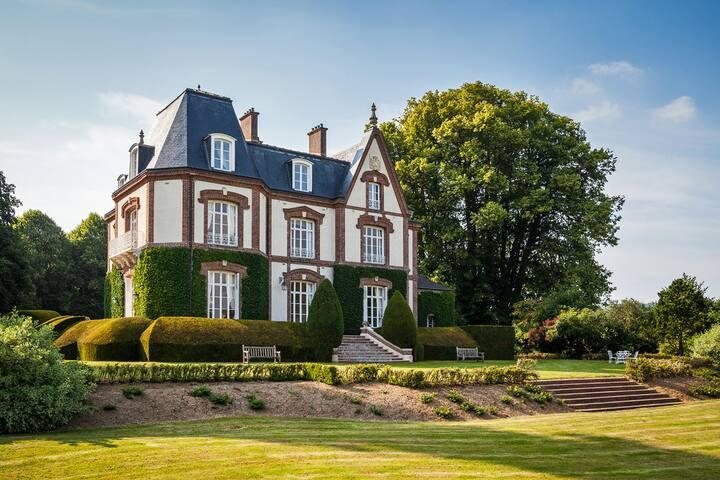 Chambre d'Alexandrite BNB Château  - Bouelles - Oda + Kahvaltı