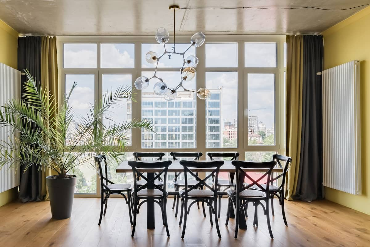 City Views From a Chic High-Rise Apartment in the Heart of Kiev