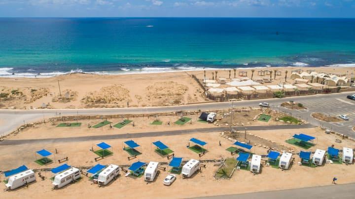 Betzet Beach Campsite - 2 adults with 2 children
