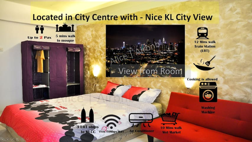 KLCC View Big Room | WiFi | Laundry | Own Bathroom