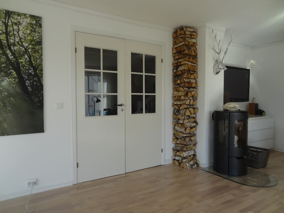 Livingroom, and the fireplace