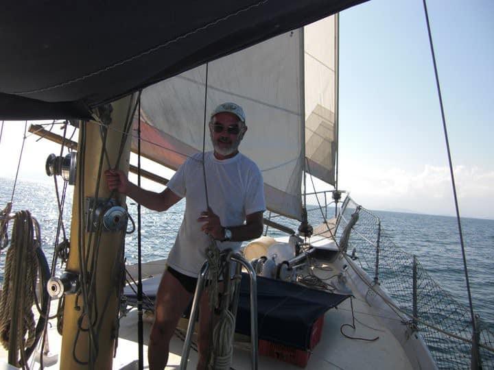 Sailing WE in  Paraty on a unique 60 y old Ketch