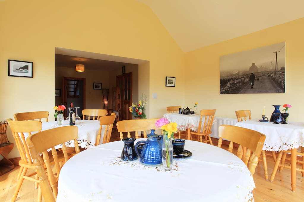Enjoy your breakfast in our sunny conservatory