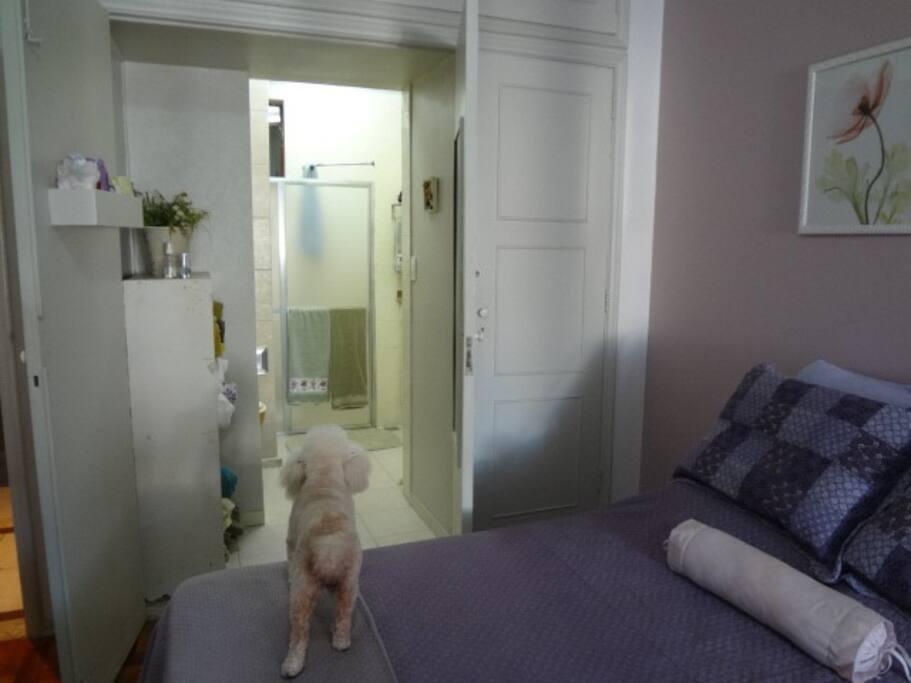 Suite com a entrada do banheiro
