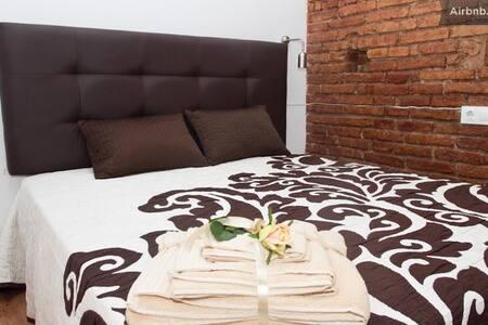Brown Balcony Double Room