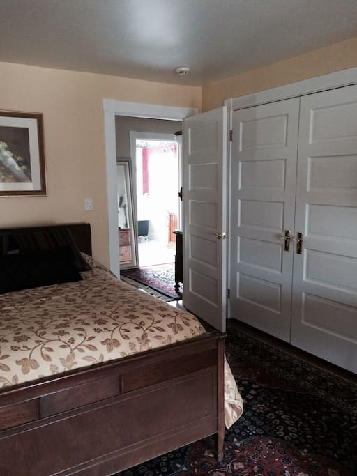 The Mellor House Guest Room 3:  View of the double door closet where your extra linens and towels are stored.