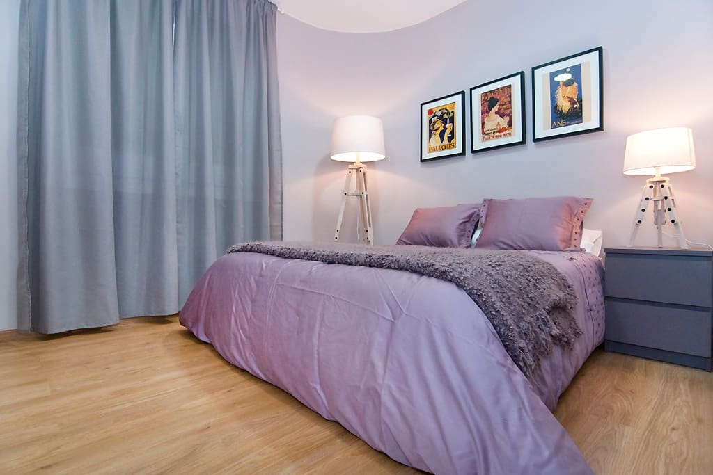 Cozy and spacious double bedroom with beautiful details and big wardrobe