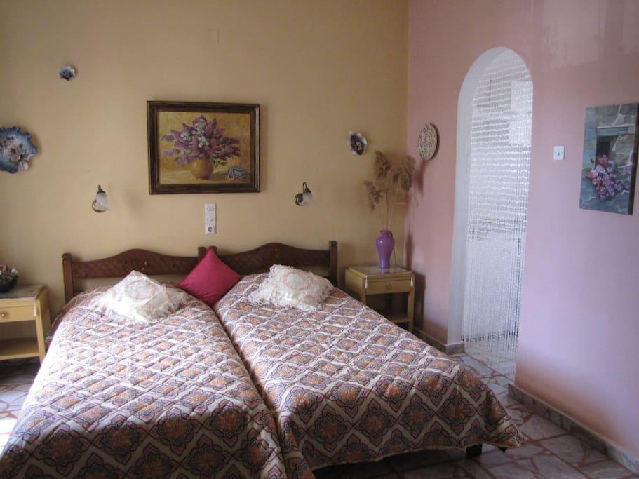 Bedroom of the appartment studio three