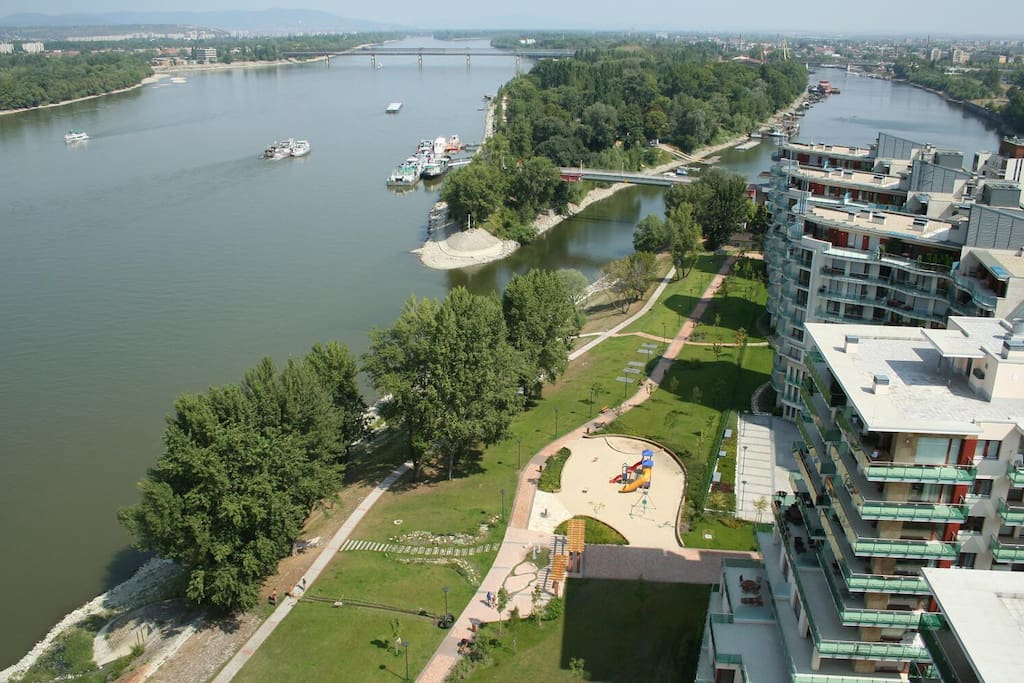 Marina coast with Danube