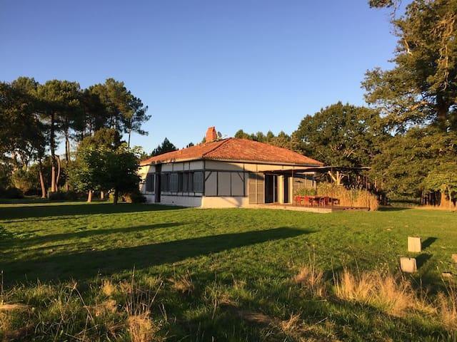 Maison landaise de caractère pour 10 à 16personnes - Arengosse - House