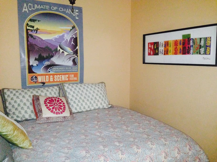 Second sleeping area or reading nook.  Pillow top double bed.