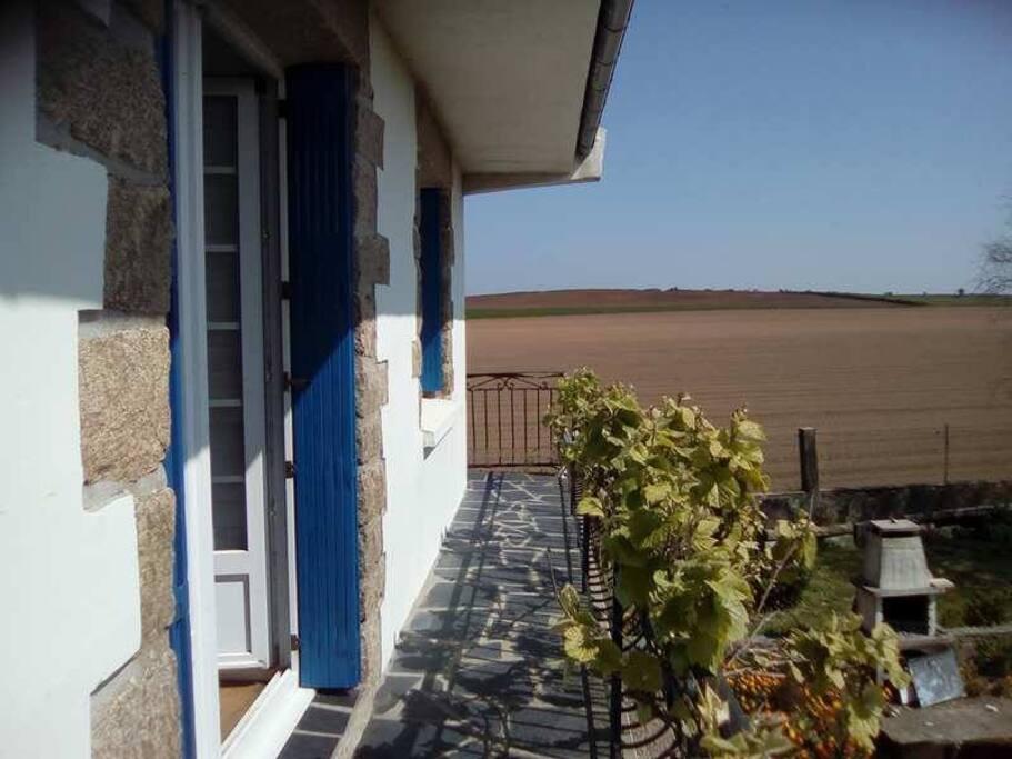 balcon avec accès par l'extérieur