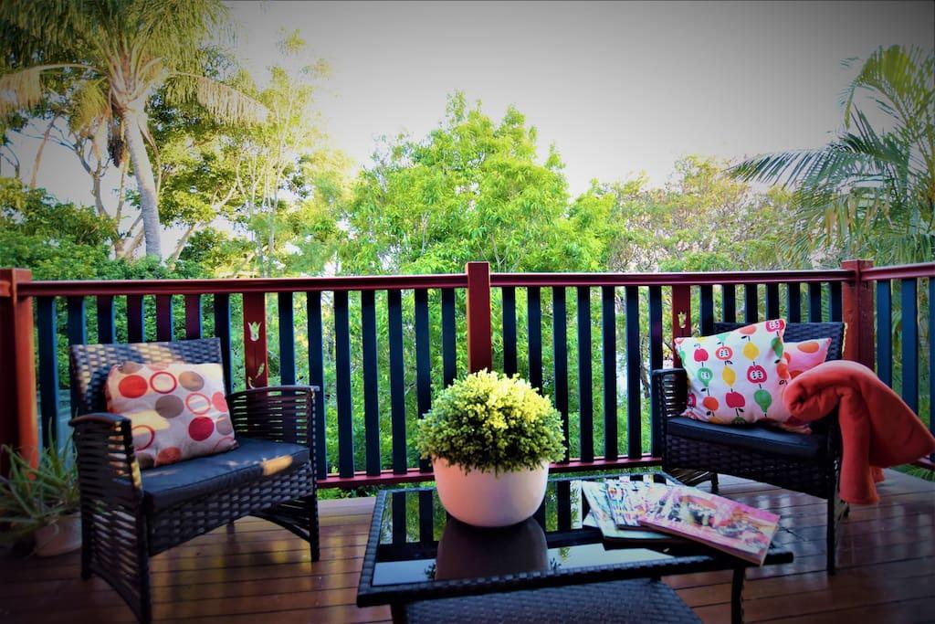 Enjoy the lovely sun filled patio