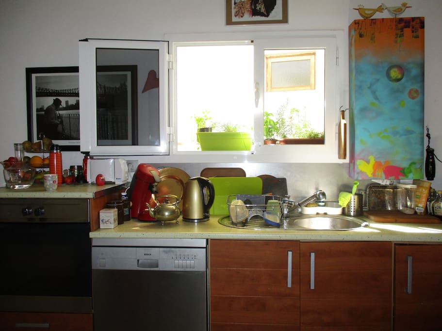 Küche zum Mitbenutzen, mit fast allem, was das Herz begehrt, weil ich gerne koche