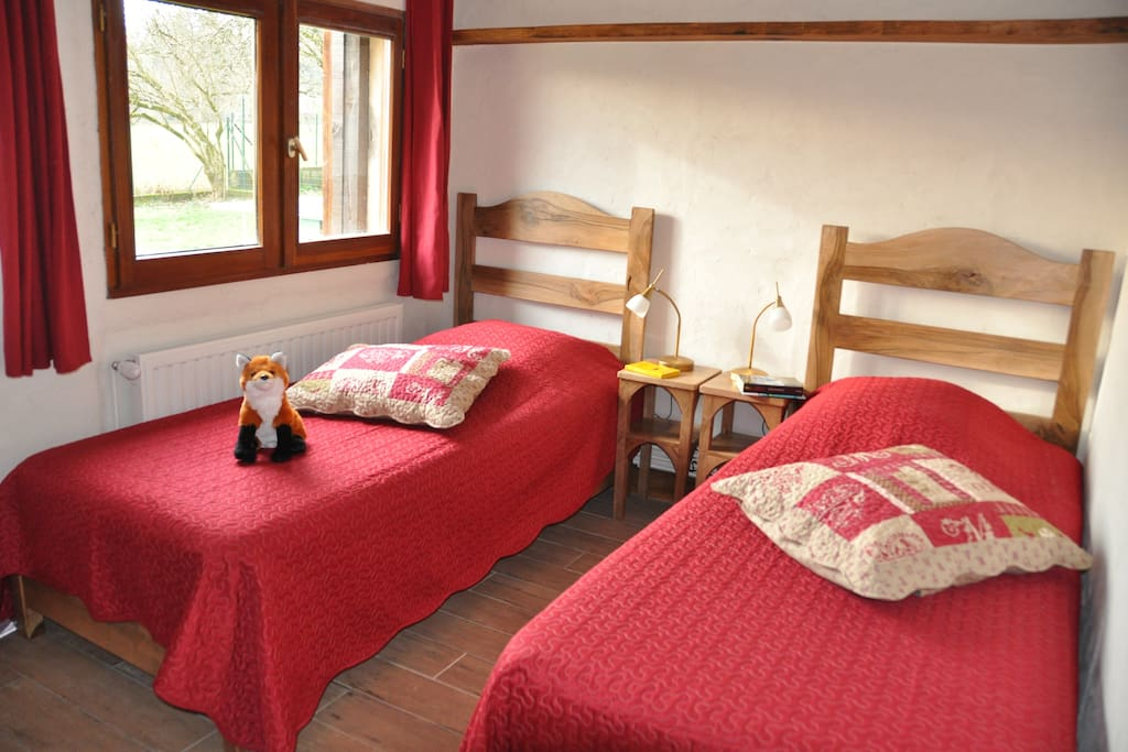 Version lits simples chambre Pimprenelle La Ferme Richard