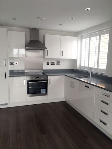 Modern & Luxurious Apartment near station, shops - Surbiton - Apartemen