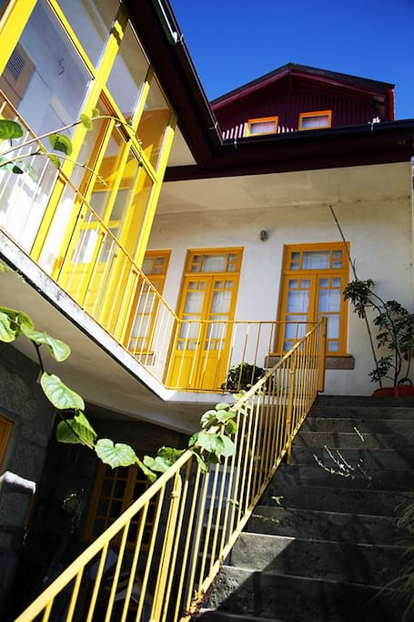 Stairs to outside garden