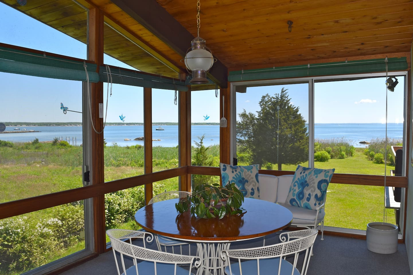 House with private beach & great views