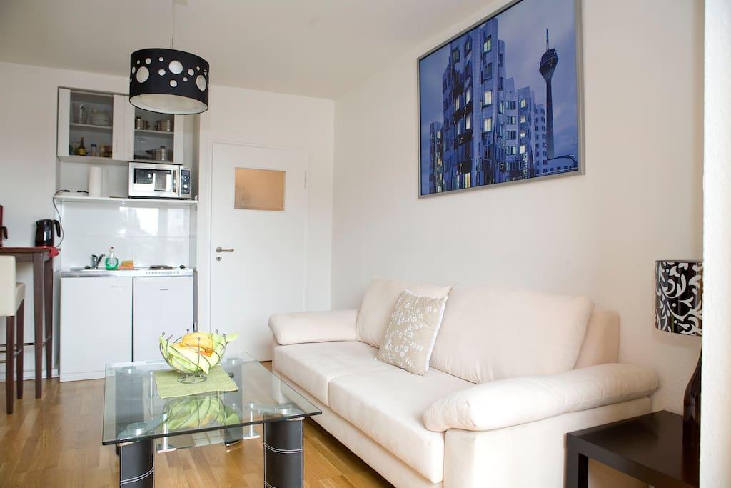 bright apartment closeto messe city apartments for rent in dusseldorf north rhine westphalia. Black Bedroom Furniture Sets. Home Design Ideas