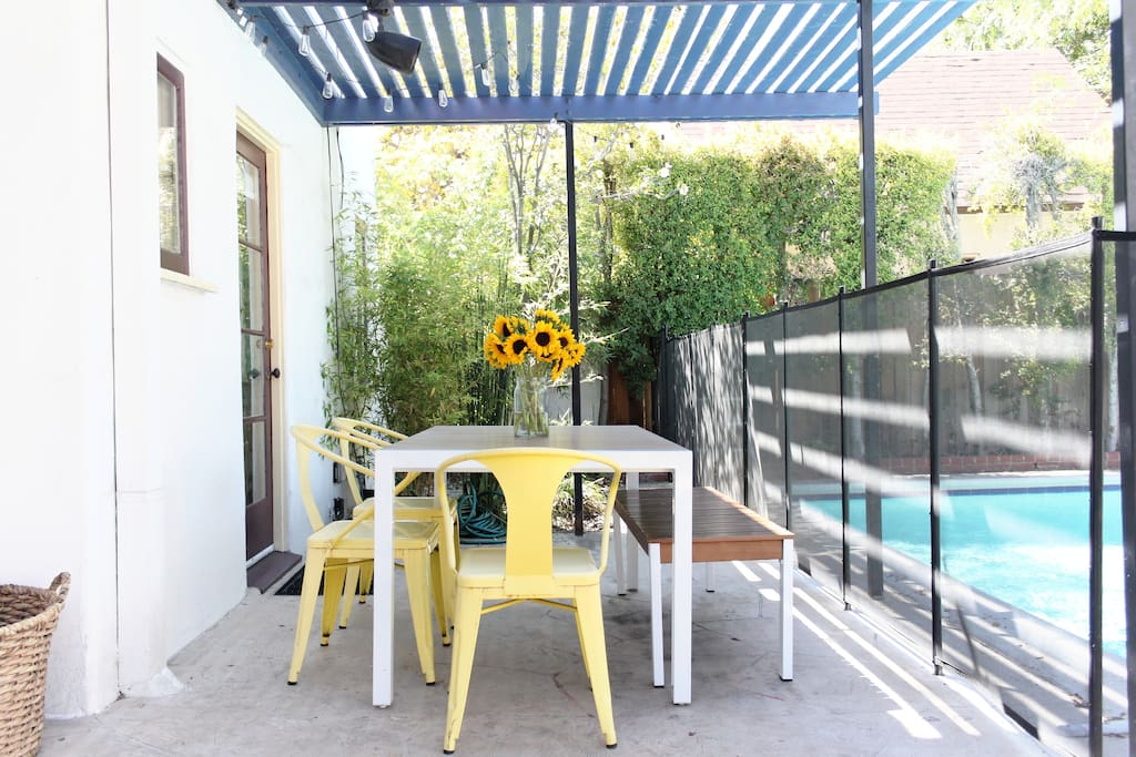 Al fresco dining at its best. Gourmet grill to use for delicious meals!